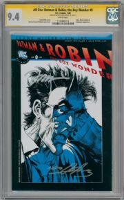 All Star Batman & Robin #8 RRP Sketch Variant CGC 9.4 Signature Series Signed Jim Lee Neal Adams DC